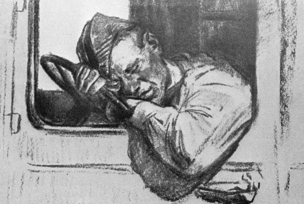 Художник на фронте рисовал портреты бойцов - «Феодосия»
